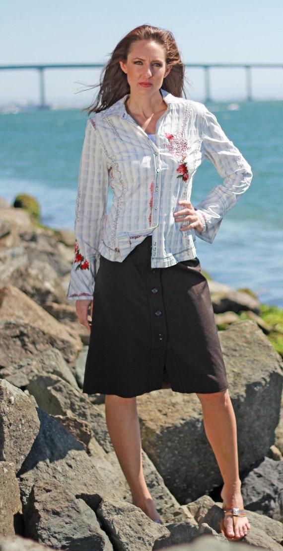 PRADA Skirt Vintage 1990s Women Straight Pencil Co