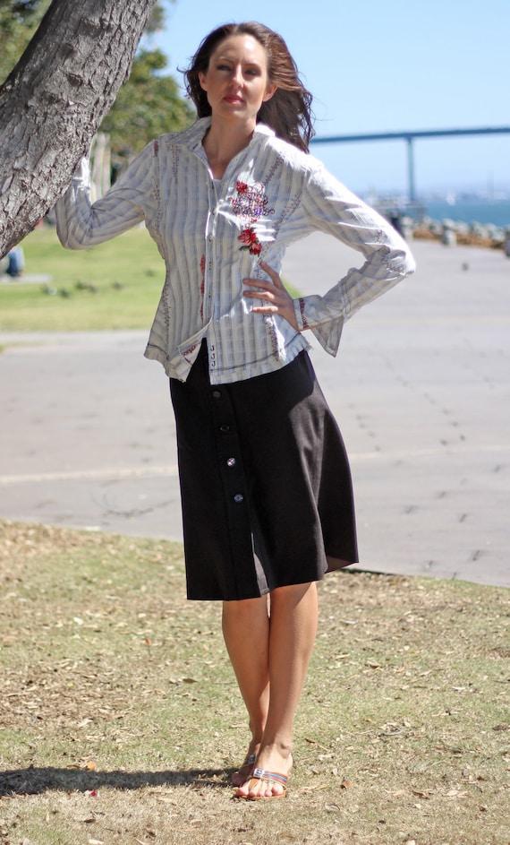 PRADA Skirt Vintage 1990s Women Straight Pencil C… - image 5
