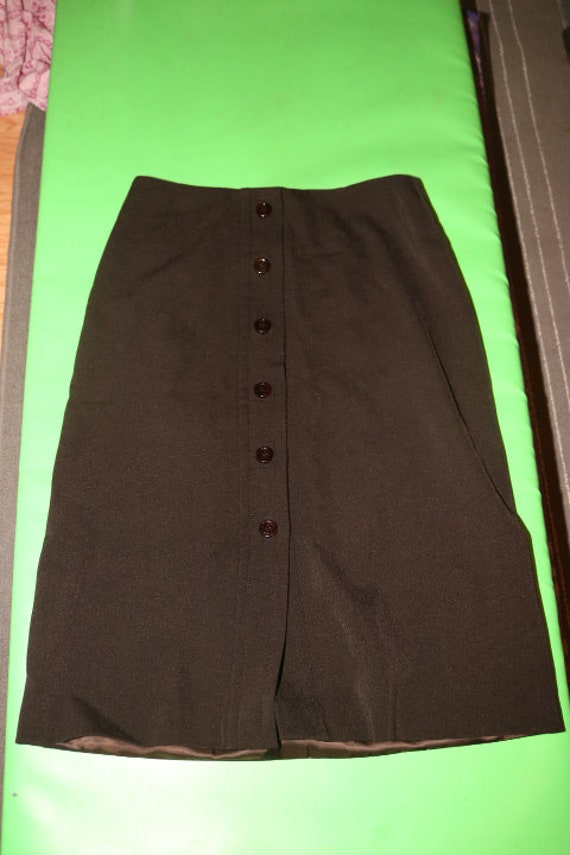 PRADA Skirt Vintage 1990s Women Straight Pencil C… - image 4