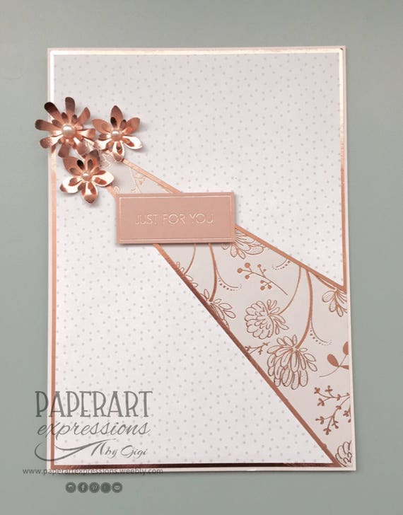 Handmade Rose Gold Birthday Card