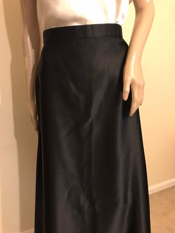 90s black tie evening skirt by Tadashi