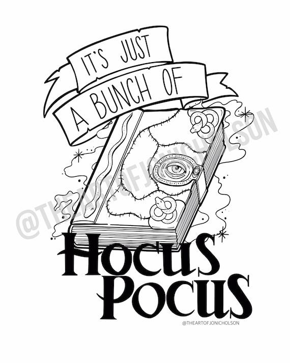 Hocus Pocus Coloring Pages Etsy