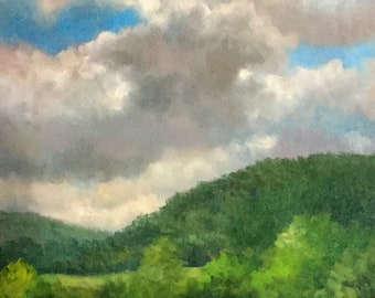 Oil Painting Original Landscape Sky Clouds – CLOUD ROMANCE by Jody Stephenson.