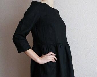 869799ace43f1b Beliebte Artikel für schwarzes leinen kleid