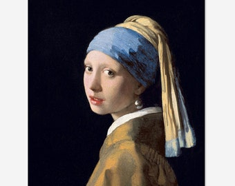 Girl with a Pearl Earring Painting- Johannes Vermeer Oil Painting Museum Quality Reproduction
