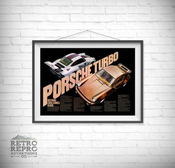 Vintage Porsche 911 Poster Ad Home Decor Art Man Cave