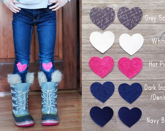 1b68d0f8e819e Knee Patches (Set of 2) Elbow Patch Iron on Knee Patch Heart Patch Knee  Patches Leggings Girls Jean Patches Iron on Denim Patch Set