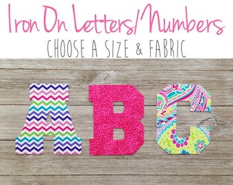 Iron on Letters, Applique Letters, Letter Patch, Fabric Letters Iron on Monogram Iron on Numbers Iron on alphabet large iron on letters name