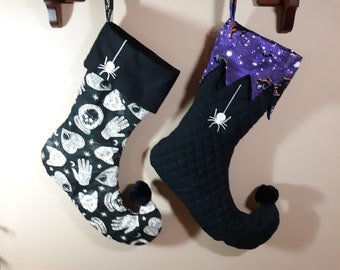 Embroidered Halloween Stockings Personalization Available