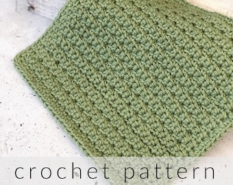 Crochet Pattern Dishcloth with Label   Pdf Download Crochet Kitchen Dishcloth Pattern with Printable Wrapper   Crochet Washcloth Pattern