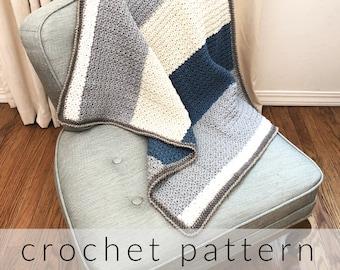 Crochet Blanket Pattern Emilio Blanket Easy Crochet Blanket Pattern Baby Blanket Crochet Pattern Modern Crochet Blanket Blanket Pattern