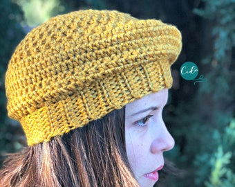 Women's Crochet Beret Pattern Only