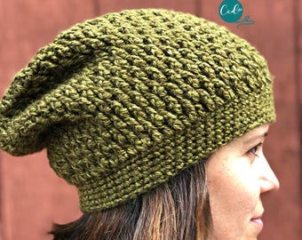 Textured Slouchy Hat Crochet Pattern