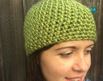 Mini Puff Stitch Crochet Beanie Pattern