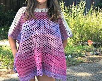 Crochet Pattern Playtime Poncho Toddler Poncho Crochet | Etsy