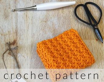 Crochet Pattern Dishcloth   Sunrise Textured Dishcloth Crochet Pattern   Crochet Washcloth Pattern   PDF Pattern Dishcloth Crochet   Cotton