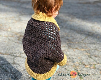 Toddler Crochet Cocoon Shrug Pattern Only