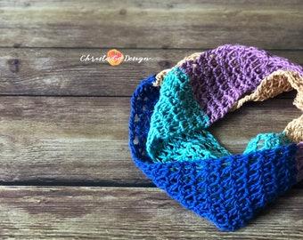 Colorblock Crochet Cowl Pattern