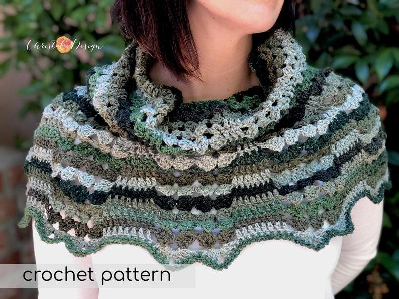Crochet Pattern Caverna Capelet Cowl  Crochet Cowl  Crochet image 0