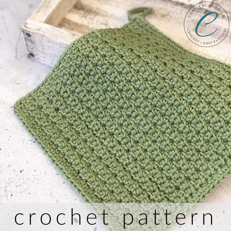 Crochet Pattern Dishcloth with Label  Pdf Download Crochet image 0