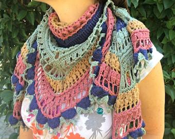 Ottobre Shawlette Crochet Pattern