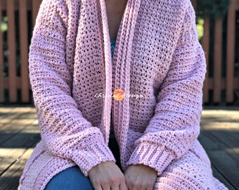 Hygge Homebody Crochet Cardigan Pattern Only