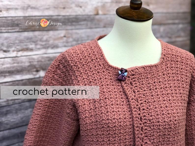 Crochet Pattern Positano Pocket Cardigan  Crochet Cardigan  image 0
