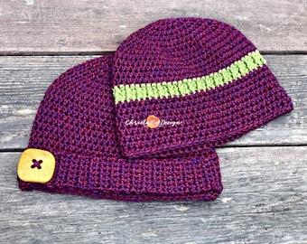 Embellished Basic Crochet Beanie Pattern Only