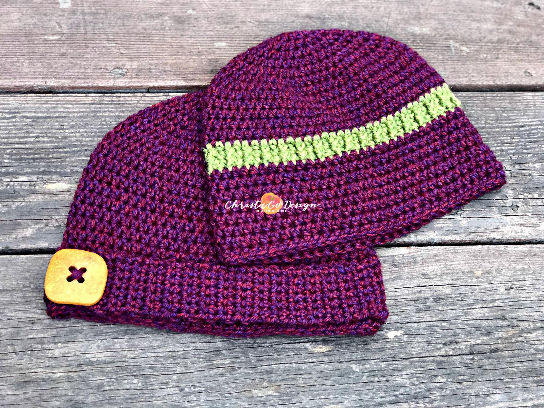 Embellished Basic Crochet Beanie Pattern Only Etsy