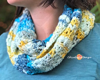 Blueberry Lemonade Crochet Cowl Pattern