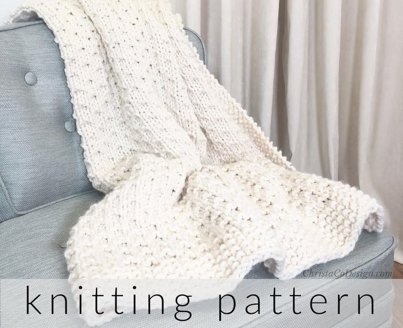 Knitting Pattern Blanket Bella Vita  Knitted Throw Blanket image 1