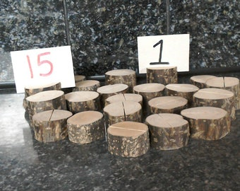 21 Natural Rustic Wedding table markers. Events, fundraisers,Weddings, Unique one offs