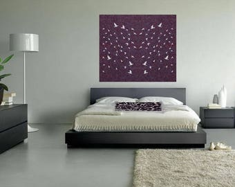 Felt Panels and Room Dividers: Laser Cut Designer, Room Divider, Modern Hanging Panel, Wall Art, Home+Office