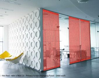 Felt Panels and Dividers, Laser Cut Designer, Design Circle-S, Interior Room Divider, Modern Hanging Panel,Wall Art,Home+Office,