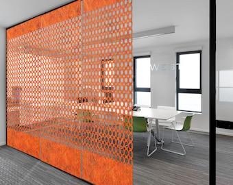 Laser Cut Designer Felt Panels and Dividers: Interior Room Divider, Modern Hanging Panel, Wall Art, for Home+Office, Design-Donut Links