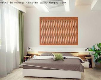 Laser Cut Designer Felt Panels and Room Dividers: Interior Room Divider, Modern Hanging Panel, Wall Art, for Home+Office, Design-Ovals 45