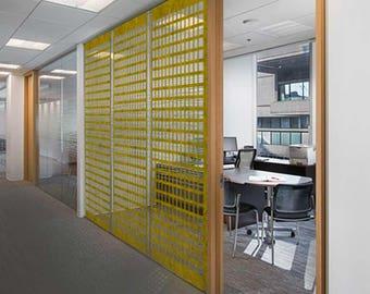 Laser Cut Designer Felt Panels and Room dividers: Interior Room Divider, Modern Hanging Panel, Wall Art
