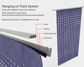 Laser Eco Felt Panel Hanging Method: Track System 2-5 Channels