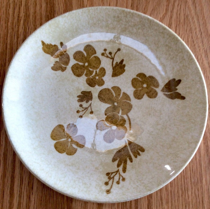 Ironstone Plates Gold Dinnerware Set 60s Dishes Gift Dessert Plates Set Small Floral Plate Boho Dishes Snack Plates Gold Royal China