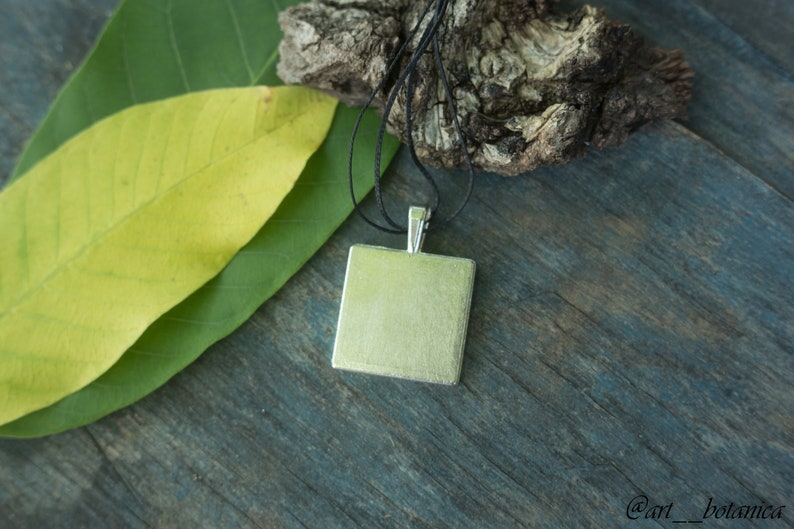 Four Leaf Clover necklace Botanical pendant Real clover pendant Clover jewelry