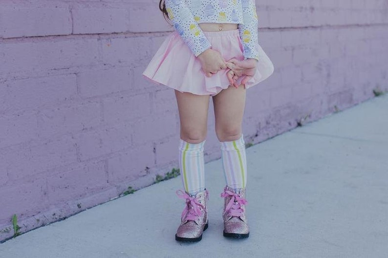 a7d0ee4e995 Stripes Pastel Stripes Easter Knee High Socks Baby