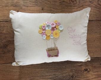 Embroidered Cushions | Keepsake Cushions | Memory Cushion | Personalised Cushions | Christening Gift | Wedding Gift