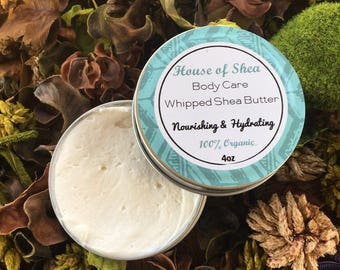 Organic Whipped Shea Butter-Unrefined and Handcrafted