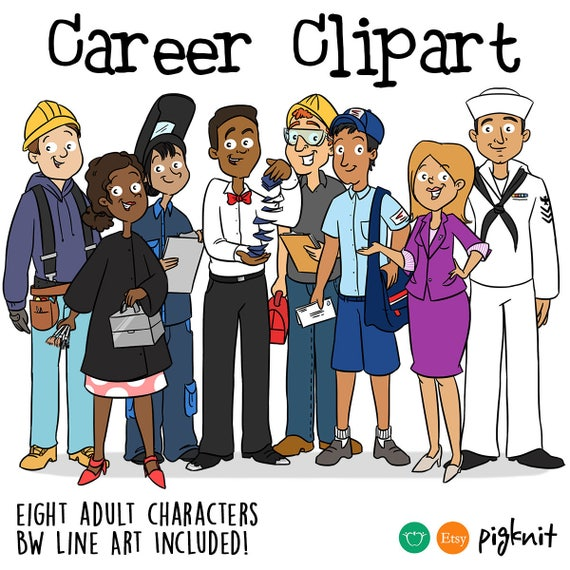 Adult Career Jobs Printable Digital Clipart Png Set For Etsy