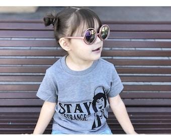 Kids Custom Funny Cat with Big Glasses T-Shirts Boys Girls Teenager Tee Shirt Children Youth Graphics Tees