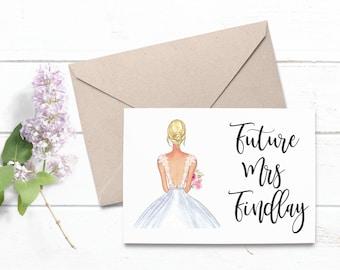 Engagement card | Etsy