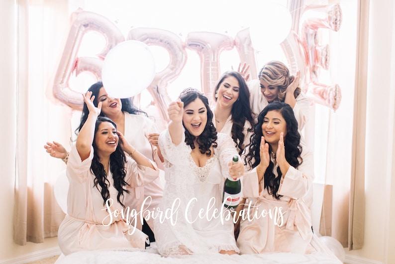 9d8f558ff2 Bridesmaid Robes Bridal Party Satin Robes Bride Wedding Party