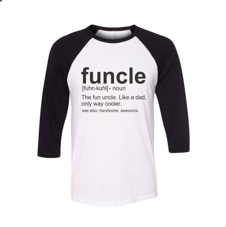 ab435835 Funcle Definition Shirt Fun Uncle Funny Uncle Baseball Raglan | Etsy