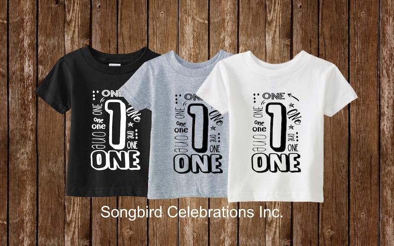 First Birthday Boy Shirt 1st Birthday One Word 1 Shirt 1st Birthday Outfit Boy First Birthday Party Superhero Birthday Dinosaur Black Grey