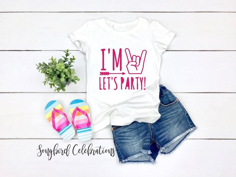 7da22fb5 I'm Two Let's Party 2nd Birthday Shirt Birthday Girl   Etsy